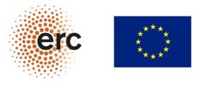 Logo ERC und EU Fahne